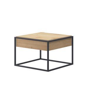 TEMPO KONDELA Spring EL 60 konferenčný stolík dub artisan / čierna
