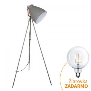 Tempo Kondela Stojacia lampa, sivá, TORINO WA001-G