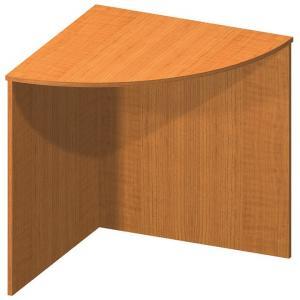 Tempo Kondela Stôl rohový oblúkový, čerešňa, TEMPO ASISTENT NEW 024