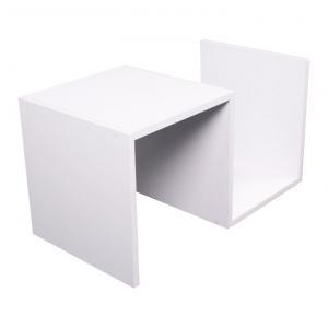 TEMPO KONDELA Valmar príručný stolík biela