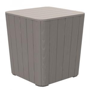Kondela Záhradný úložný box/príručný stolík, sivá, IBLIS