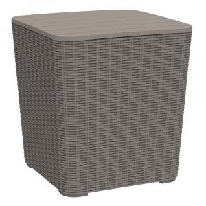 Kondela Záhradný úložný box/príručný stolík, sivohnedá, UGUR
