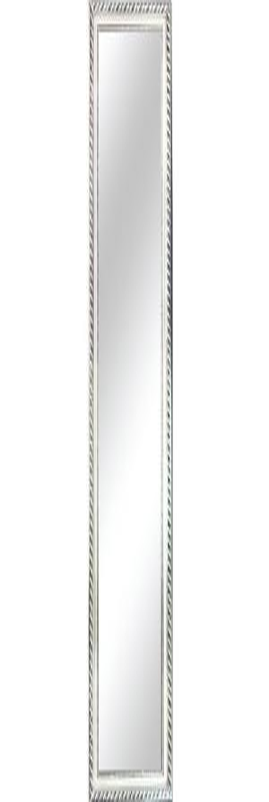 Tempo Kondela Zrkadlo, drevený rám striebornej farby, MALKIA TYP 5