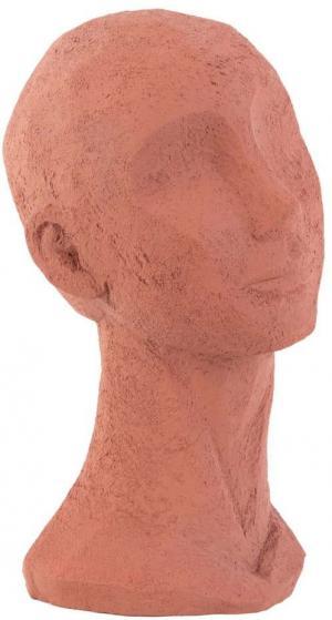 Terakotovooranžová dekoratívna soška PT LIVING Face Art, výška 28,4 cm