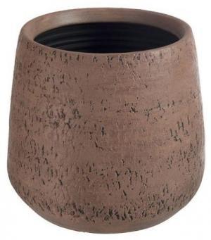 Terakotový hnedý kvetináč Bark - Ø 28 * 26 cm