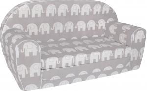 TEX-IM Rozkladacia detská pohovka MINI Vzor: Šedý slon