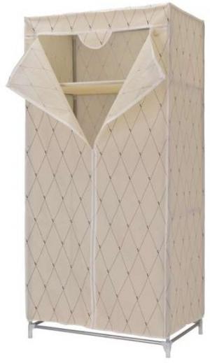 Textilná šatníková skriňa Gallo - béžová