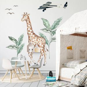 Textilné nálepky - Žirafa zo sveta SAFARI