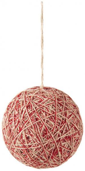 Textilné vianočné gule - Ø 12 * 12 cm