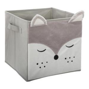 Textilná krabica na hračky Lis sivá