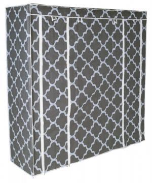 Textilná skriňa s 12 policami KAJA MIDI sivá