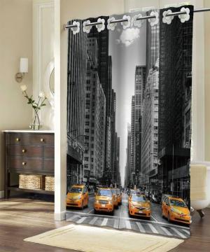 Textilný sprchový záves NEW YORK 180x180