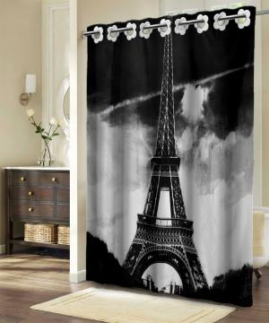Textilný sprchový záves PARÍŽ 180 x180