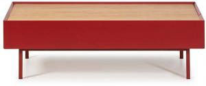 Tmavočervený konferenčný stolík Teulat Arista