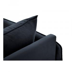 Tmavomodrá zamatová leňoška Cosmopolitan Design Vienna, ľavý roh