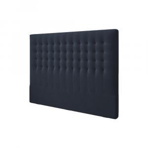 Tmavomodré čelo postele so zamatovým poťahom Windsor & Co Sofas Apollo, 160×120 cm