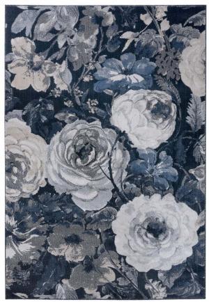 Tmavomodrý koberec Mint Rugs Peony, 120 x 170 cm
