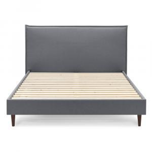 Tmavosivá dvojlôžková posteľ Bobochic Paris Sary Dark, 160 x 200 cm