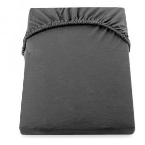 Tmavosivá elastická bavlnené plachta DecoKing Amber Collection, 140/160 x 200 cm