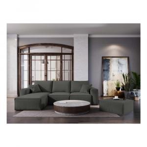 Tmavosivý puf Cosmopolitan Design Miami, 65×65 cm