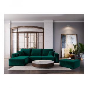 Tmavozelený puf Cosmopolitan Design Florida, 65×65 cm