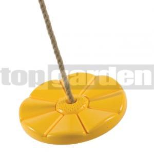 TOPGARDEN Hojdací disk kvet žltý