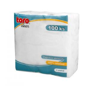 TORO Obrúsky 1-vrstvové Toro, 100 ks