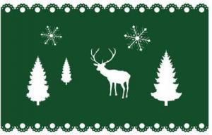TORO Plstené vianočné prestieranie TORO 40x25cm