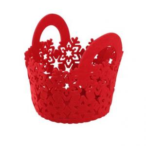 TORO Plstený košík TORO 15cm červený