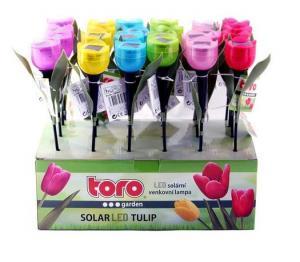 TORO Solárne vonkajšie LED svetlo TORO tulipán