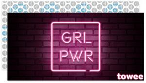 Towee Rýchloschnúca osuška GIRL PWR, 80 x 160 cm