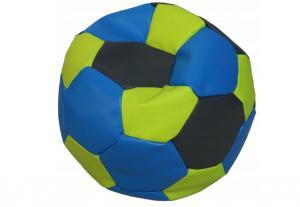 Tříbarevný sedací vak Fotbalový MÍČ XXL Vzor: 31 ZELENO MODRO ČERNÁ