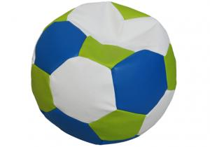Tříbarevný sedací vak Fotbalový MÍČ XXL Vzor: 33 MODRO ZELENO BÍLÁ