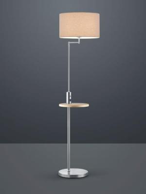 TRIO 400400107 Claas Stojanová lampa 400mm E27 1X60W Matný nerez, šedá