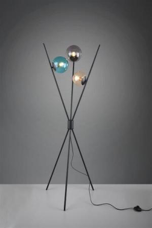 TRIO 403400317 Lance Stojanová lampa 600mm E14 3X28W Čierna matná, viacfarebná
