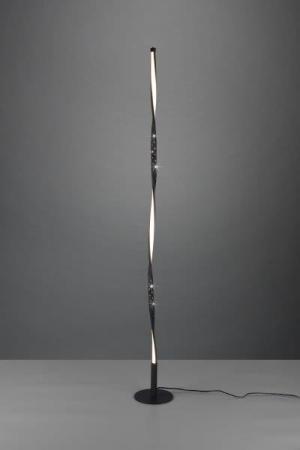 TRIO reality R42811032 Spin Stojanová lampa 130mm LED 1X10W/900lm 3000K Matná čierna, Switchdimmer