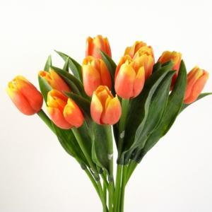 Tulipán umelý dvojfarebný 40cm