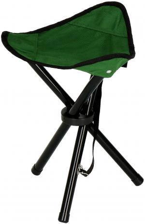 Turistická kempingová stolička skladacia - zelená