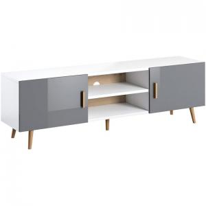 TV stolík Brillo biela/šedá lak