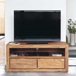 TV stolík Gani 120x50x45 indický masív palisander - Svetlomedová