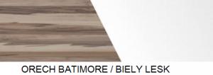 Meblar TV stolík MONSUN MN8 Farba: Orech batimore/biely lux
