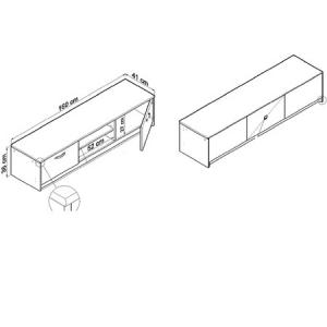 TV stolík REMUS - K028