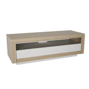 TV stolík/skrinka Aglon (dub sonoma + biela)