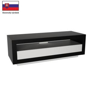 TV stolík/skrinka Ambleside (čierna + biela)