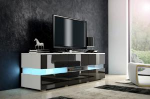 TV stolík - WIP - Inter - biela + lesk čierny. Sme autorizovaný predajca WIP.