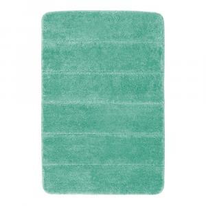 Tyrkysove modrá kúpeľňová predložka Wenko Steps, 60 × 90 cm