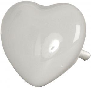 Úchytka šedej srdce - Ø 3.5 * 4 cm