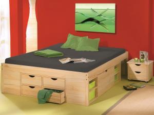 Úložná posteľ s nočnými stolíkmi Claas 160x200 cm