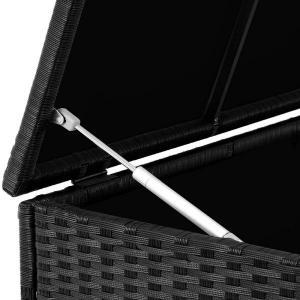 Úložný box 122cm x 56cm x 61cm - čierna s kolieskom