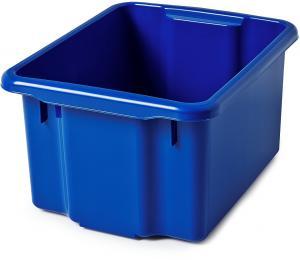 Úložný box Blake, 600x400x350 mm, 55 L, modrý